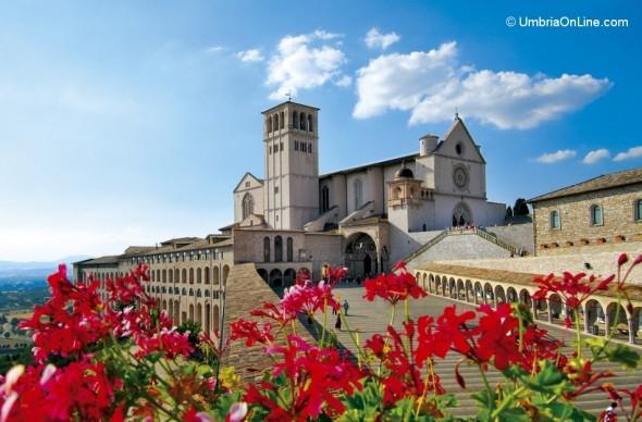 Veduta della Basilica di San Francesco ad Assisi