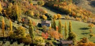 Assisi - Colline nei dintorni in Autunno