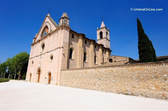 Esterno del Santuario di Rivotorto di Assisi
