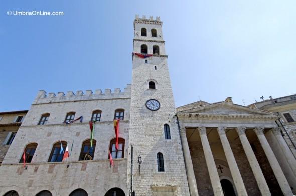 Vista del Tempio di Minerva di Assisi