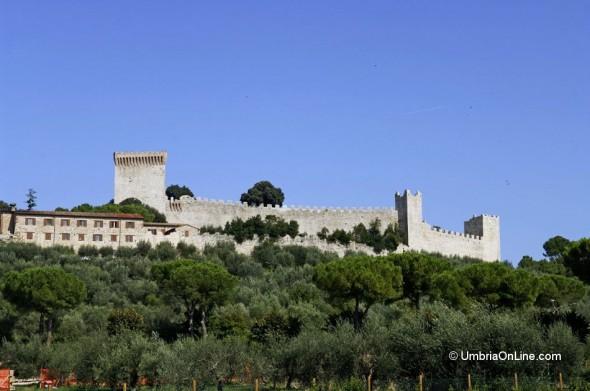 Vista Castello del Leone a Castiglione del Lago