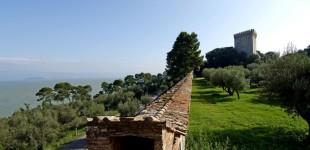 Castiglione del Lago - veduta dal parco del Castello