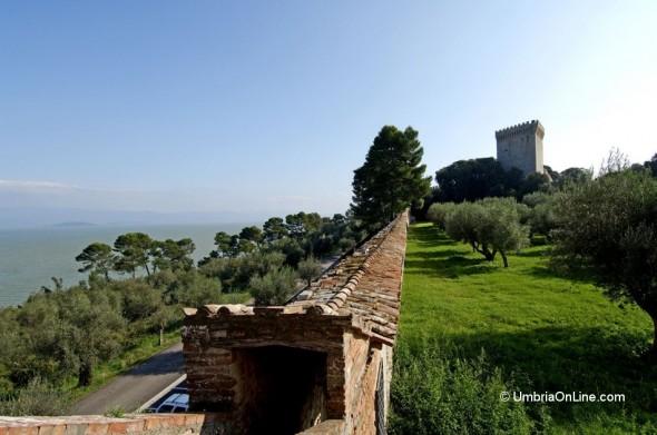 Vista dal Castello di Castiglione del Lago