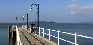 Lago Trasimeno - Pescatore dal pontile