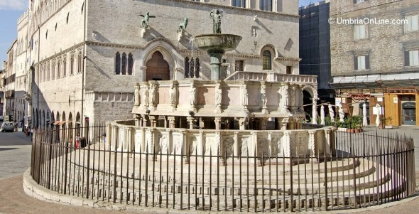Fontana Maggiore nel centro di Perugia