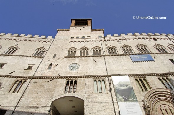 Esterno della Galleria Nazionale dell'Umbria a Perugia