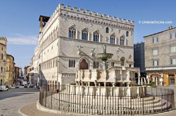 Piazza IV Novembre nel centro di Perugia