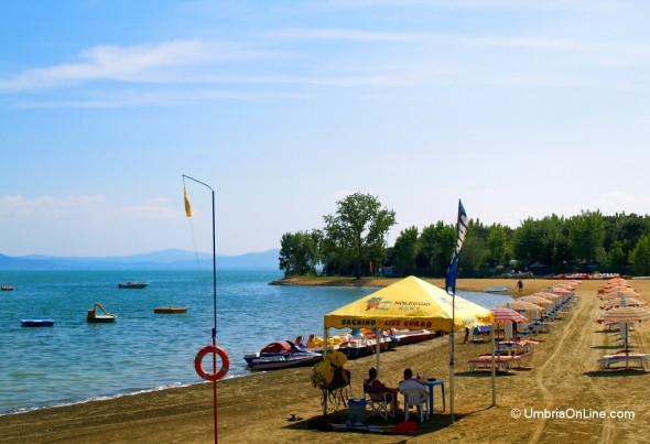 Spiaggia di Tuoro sul Trasimeno