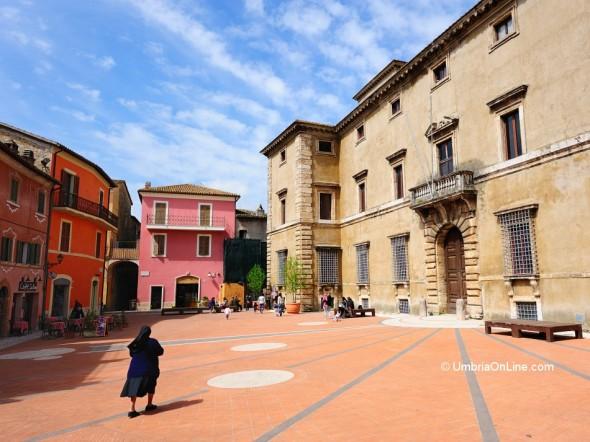 Vista di Palazzo Cesi ad Acquasparta